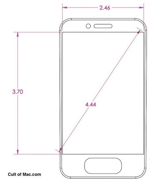 iPhone 5 or other Apple device mockup and dimensions