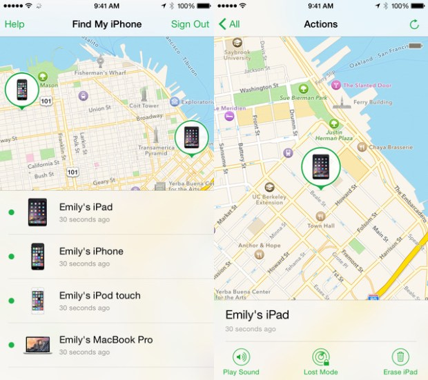 Find My iPhone tracks your lost or stolen iPhone.