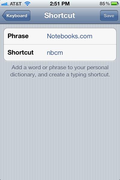 iOS 5 Keyboard Shortcuts