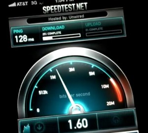 iPhone 4S 3G Speed test