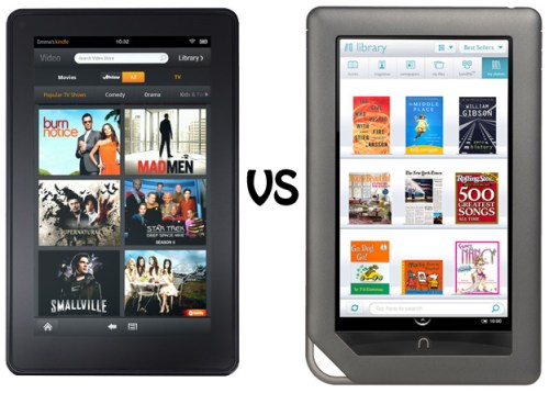 Kindle Fire vs. Nook Color