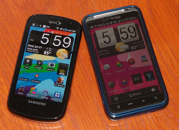 Samsung Epic 4G and HTC Thunderbolt