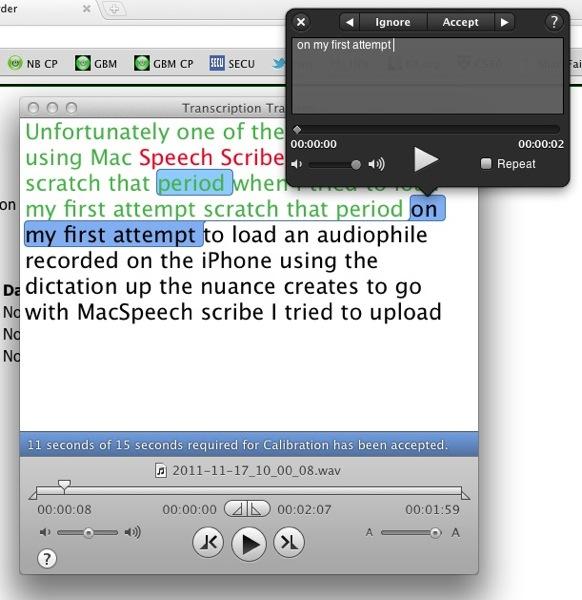 MacSpeech Training Screen