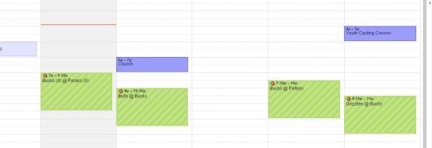 nba on google calendar