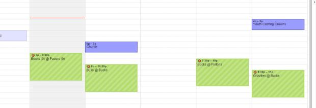 nba on google calendar