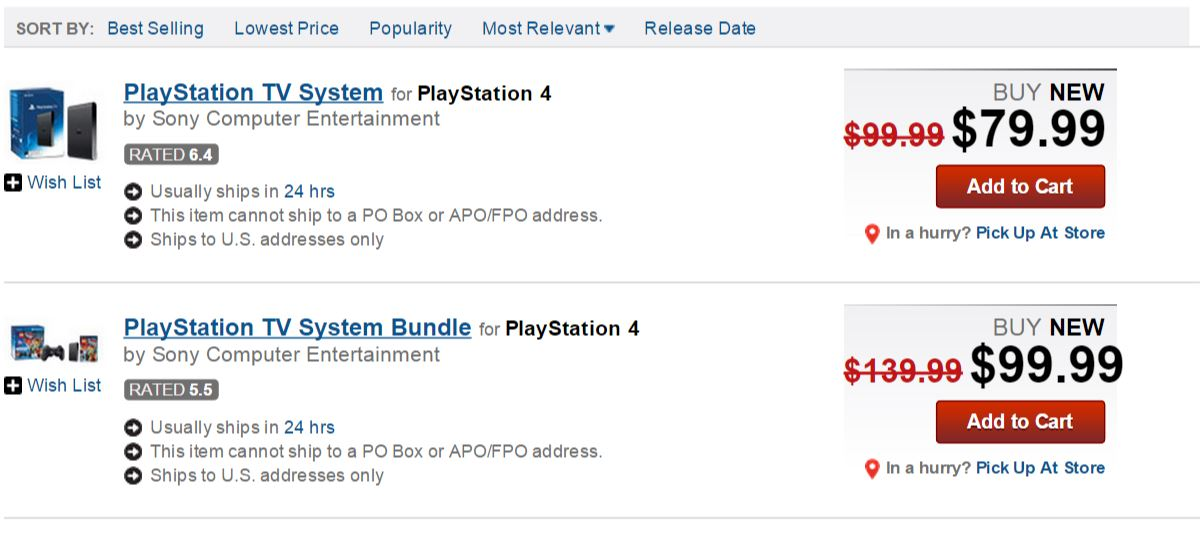 GameStop Reveals PlayStation TV Black Friday 2014 Deals