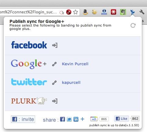 Publish Sync Chrome Browser Extension