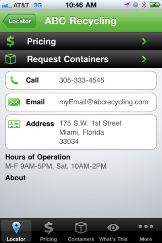 recycling app