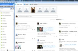 Skype 5.5 with Facebook - news feed