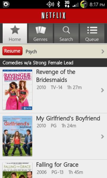 Netflix on Android