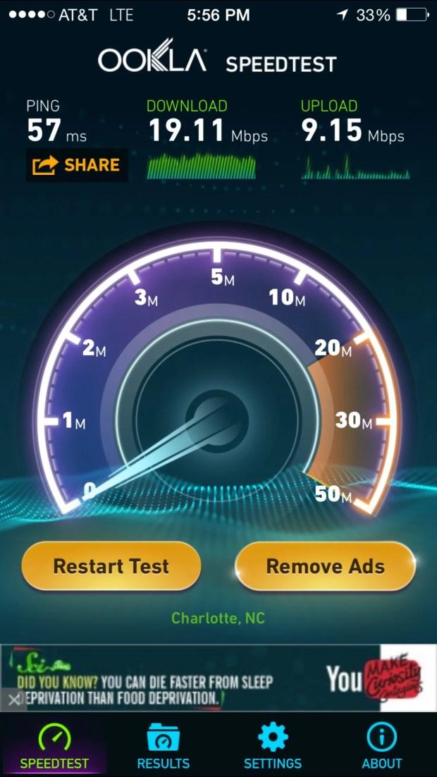 speedtest over unite pro