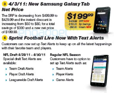 Sprint Samsung Galaxy Tab