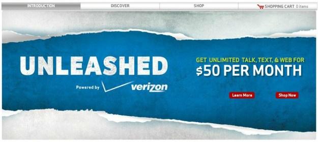Verizon Unleashed Data Plan