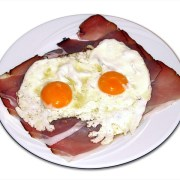 Image of fried eggs and bacon