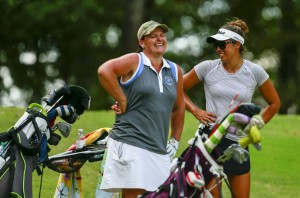 Image of two women Mid-Amateur competitors