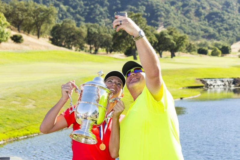 Image of U.S. Women's Open champ Brittany Lang and her hubby