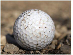 Image of a worn golf ball