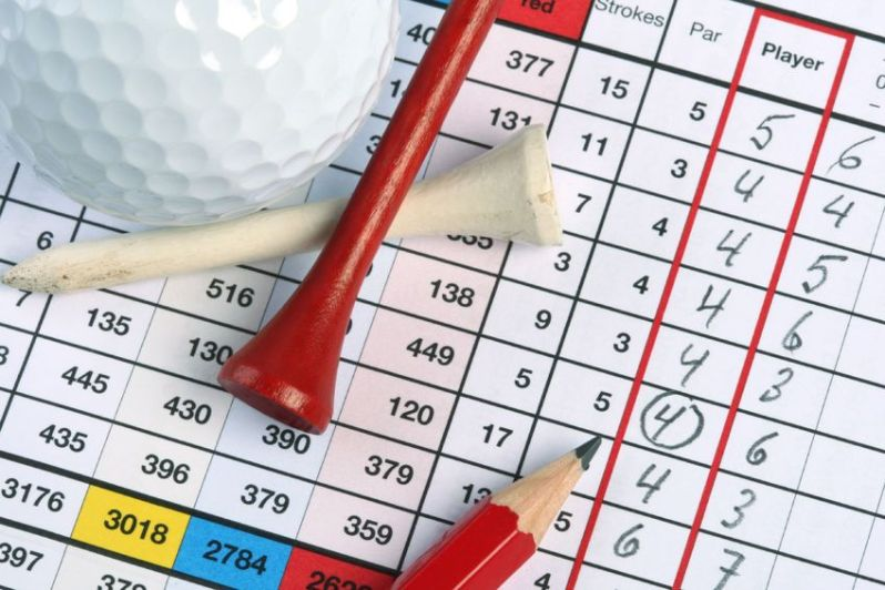 Image of golf scorecard