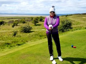 Image of the author at Gullane