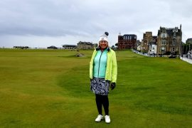 Image of the author on St Andrews' Old Course