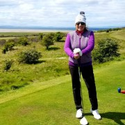 Image of the writer at Gullane