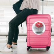Image of woman with suitcase
