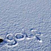 image of snow golf