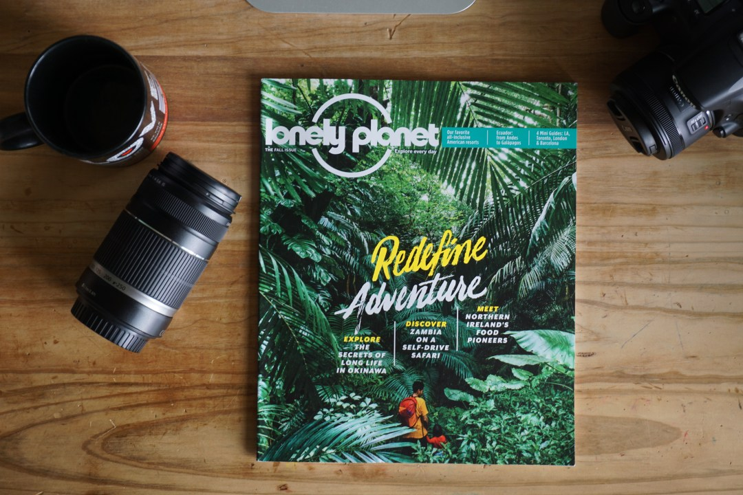Lonely Planet Magazine Fall issue cover photo