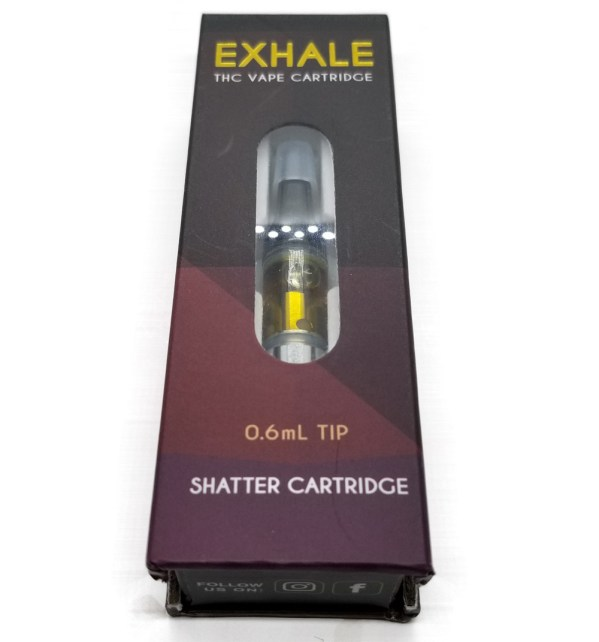 OX - Exhale - Shatter Cartridge 0.6 ml Tip - Box