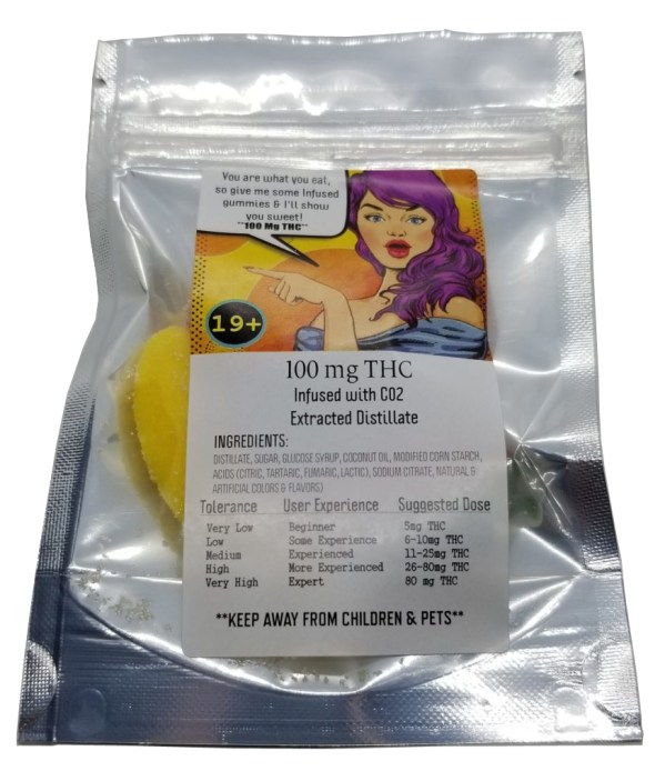 Evas Delicacies - Edible Sweet Gummies 100 mg THC