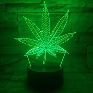 Marijuana Leaf 3D LED Table Lamp