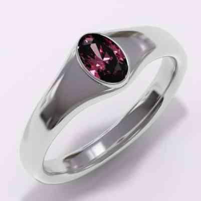 witgouden ring met robijn