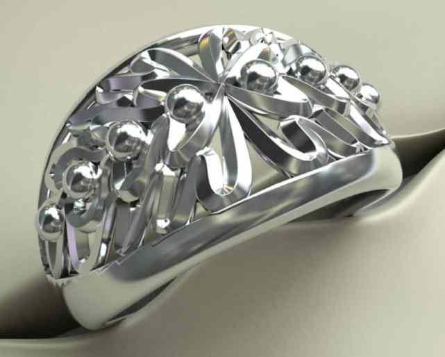 zilveren ring eikenblad motief