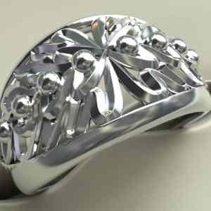zilveren ring eikenbladeren