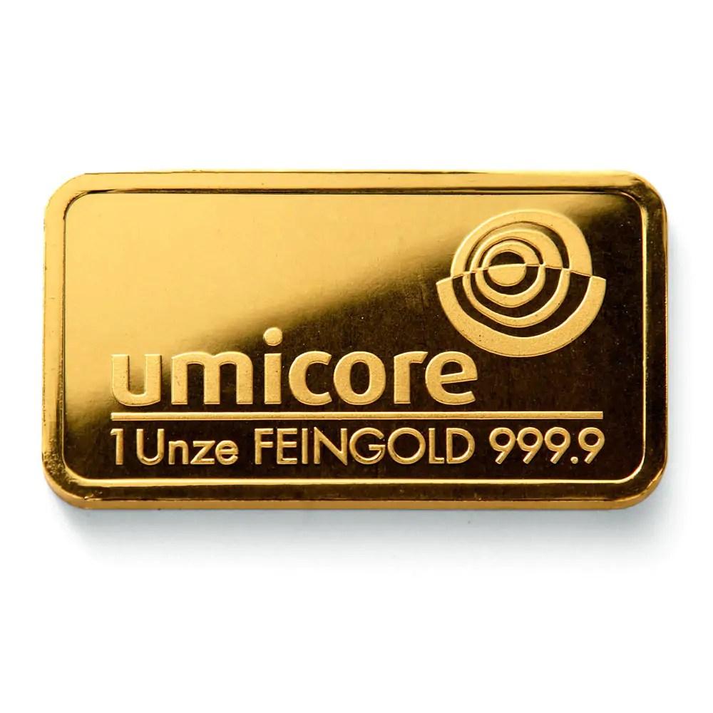 Umicore 1 troy ounce goudbaar
