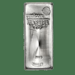 Umicore 5000 gram zilverbaar