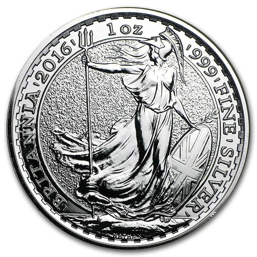 Britannia 1 troy ounce zilveren munt 2016