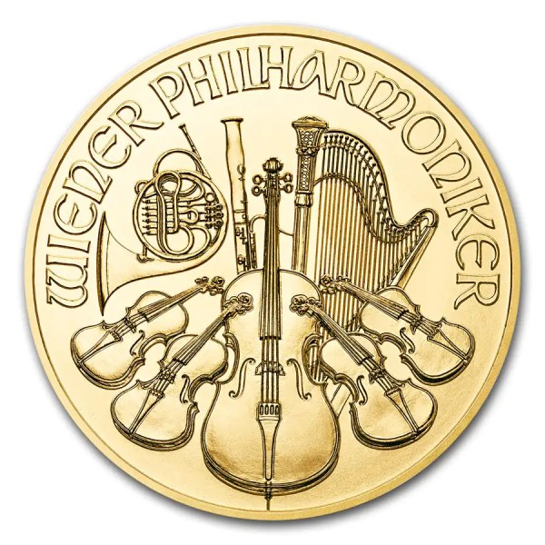 Philharmoniker 1 troy ounce gouden munt 2017