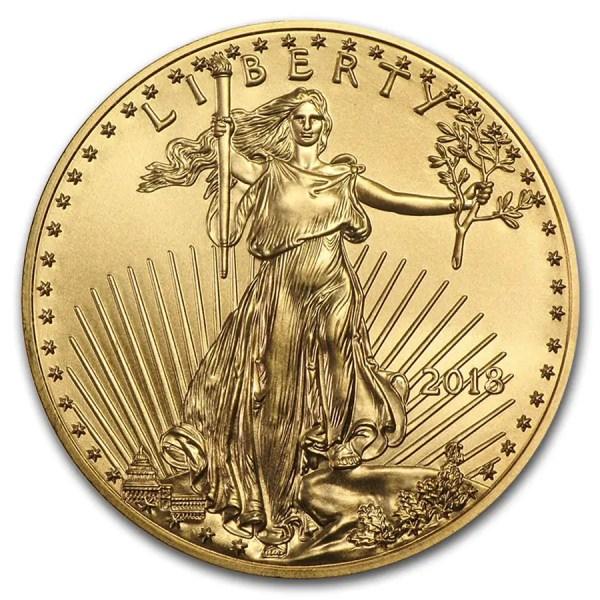 American Eagle 1/4 troy ounce gouden munt 2018