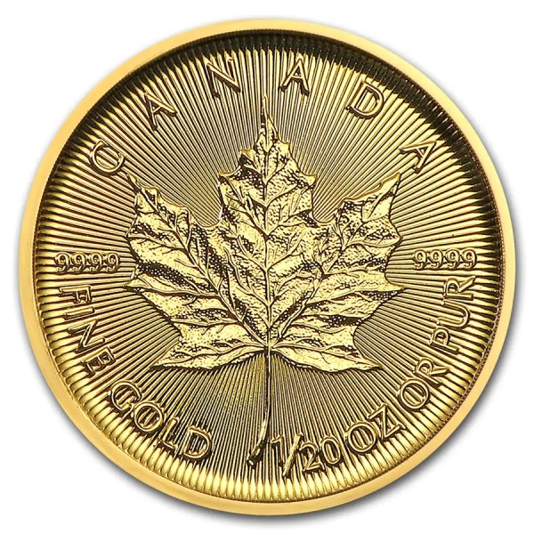 Maple Leaf 1/20 troy ounce gouden munt 2018