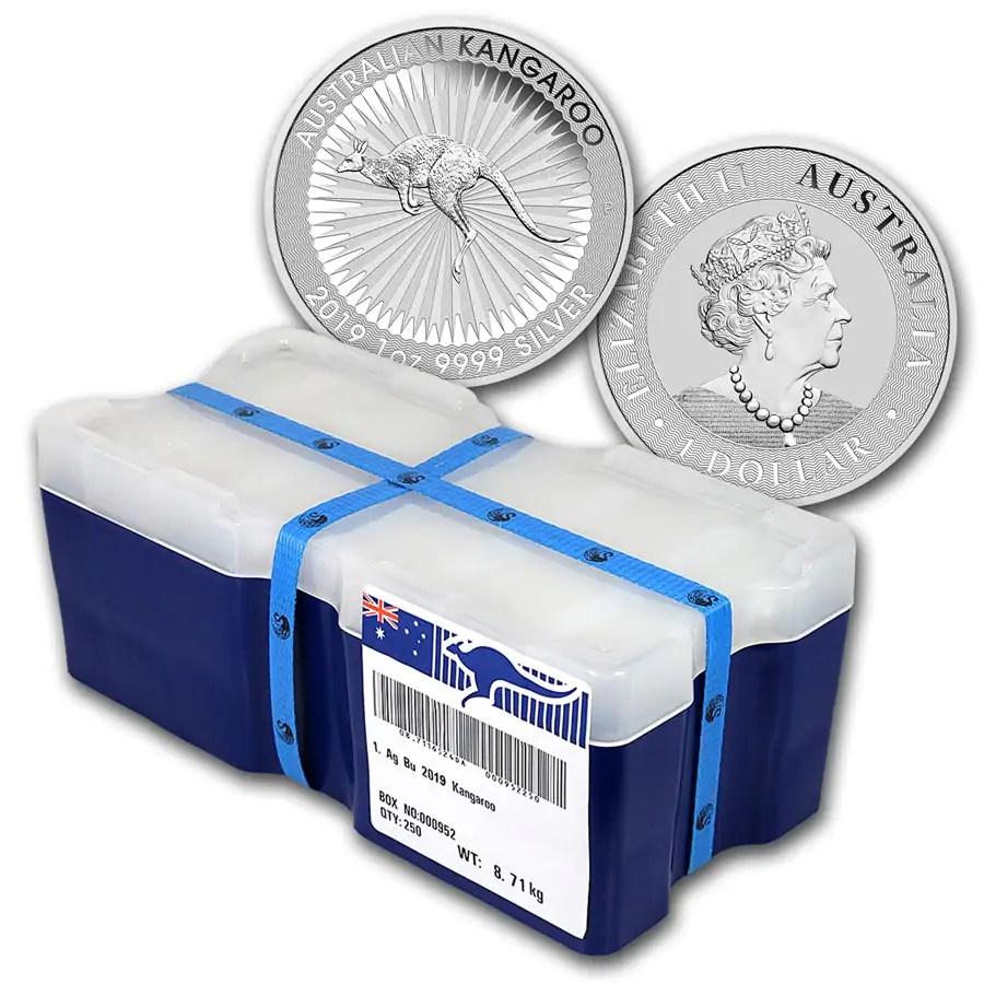 Kangaroo 1 troy ounce zilveren munt 2019