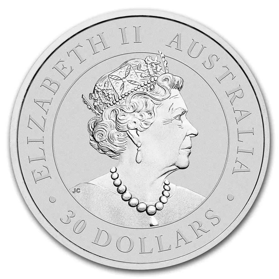 Kookaburra 1 kilo zilveren munt 2019