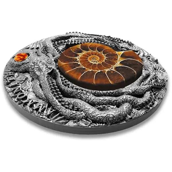 Niue Ammonite Fossil Amber