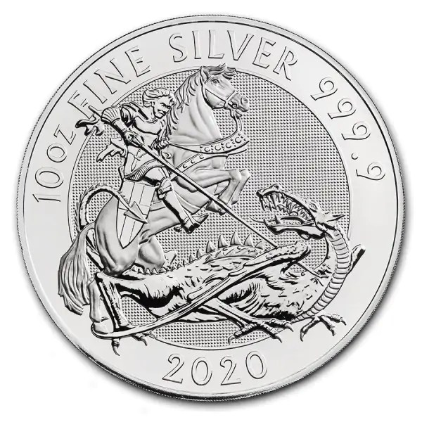The Valiant 10 troy ounce zilveren munt 2020