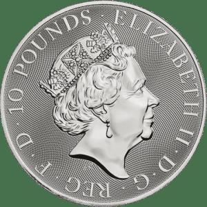 Queens Beast Falcon 10 troy ounce zilveren munt 2020