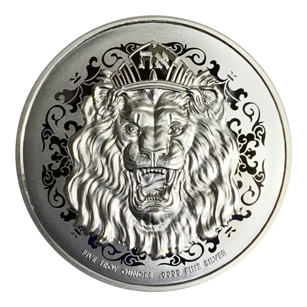Niue Roaring Lion High Relief 5 troy ounce zilveren munt 2020