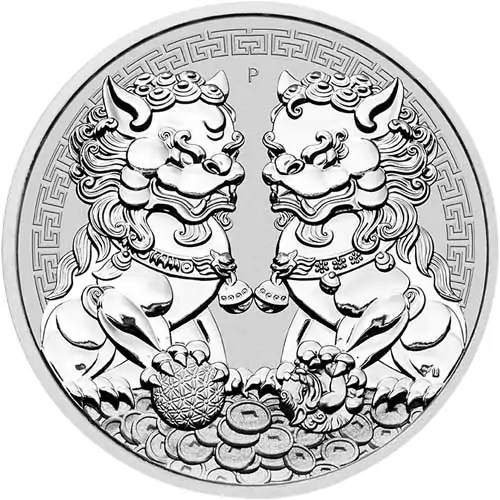 Guardian Lion Double Pixiu 1 troy ounce zilveren munt 2020