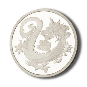 Rhodium Dragon Tuvalu 1 troy ounce munt