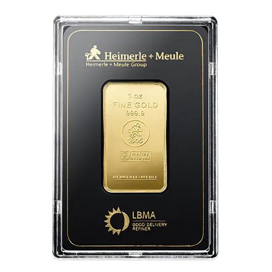 Heimerle + Meule 1 troy ounce goudbaar
