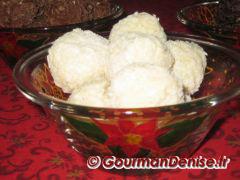 Boules chocolat blanc coco